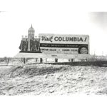 """An early ""Visit Columbia"" sign from the 1950s. Photo courtesy of the State Histotical Society of Missouri."" #TBT https://t.co/2CbtydmtXk"