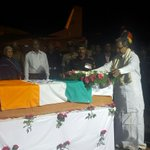 Just received d mortal remains of our proud soldier #Hanumanthappa Koppad in Hubballi. https://t.co/KXrHkav77p
