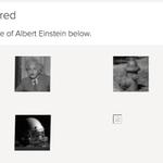 重力波検出論文のpdfをダウンロードしようとしたら「認証のために以下の中からアルバート・アインシュタインの写真をクリックしてください」と言われた。仮にこの論文だけのための処置だとしたら洒落が効いてる(w https://t.co/21WGNQ4ZOQ