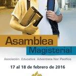 Ya viene la Asamblea Magisterial 2016 de la @ASEANoP 17 y 18 de febrero en Trujillo. Énfasis en las #MetasCRM https://t.co/Rnaukfm5iO