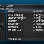 Here's a look at who @USUFootball will face in 2016: https://t.co/p6JoICyGsw #mwfb https://t.co/gWQYNAlTDn