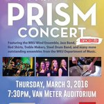 . @WKUMusicDept reschedules 21st annual PRISM Concert for March 3. Read more on WKU News at… https://t.co/tyvPRZ98t3 https://t.co/mqaN3SSqwc