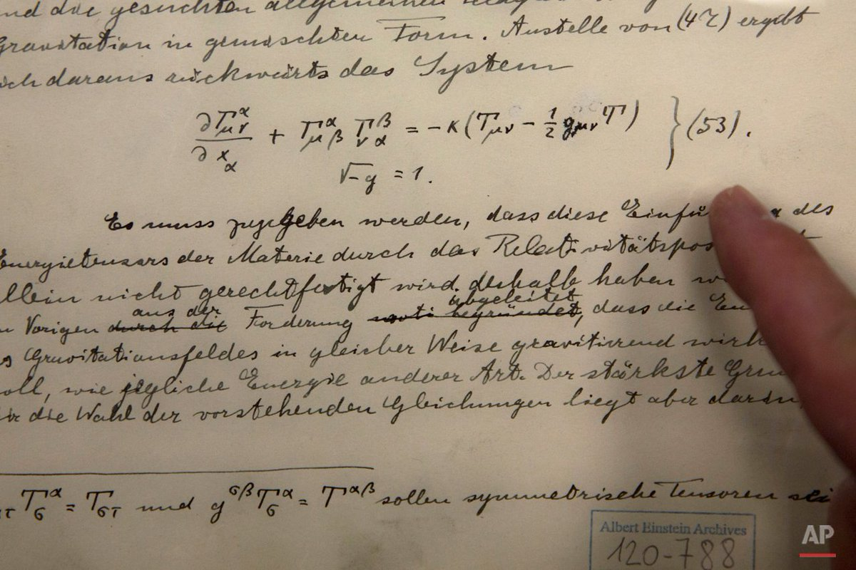 Original documents related to #Einstein's prediction of gravitational waves are shown - https://t.co/qCItP18Ukw https://t.co/U3Gf20fcJo