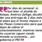 #Palomazo Por días de @carnaval_ver -sí, leyó bien- el alcalde de #Xalapa, @americozuniga decidió dar ... #Veracruz https://t.co/LcImvD0fuC