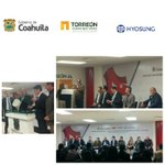 Anunció de inversión y firma convenio de colaboración con la empresa #HYOSUNG #Torreón @mrikelme @rubenmoreiravdz https://t.co/YktDWe2MJT