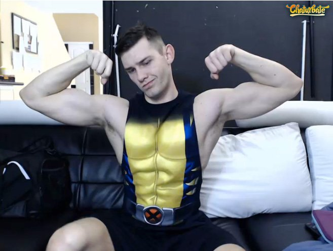Is it Wolverine or @jacobvpeterson. Cum in & find out. He's on @chaturbate over at https://t.co/bfWVIzLWeu