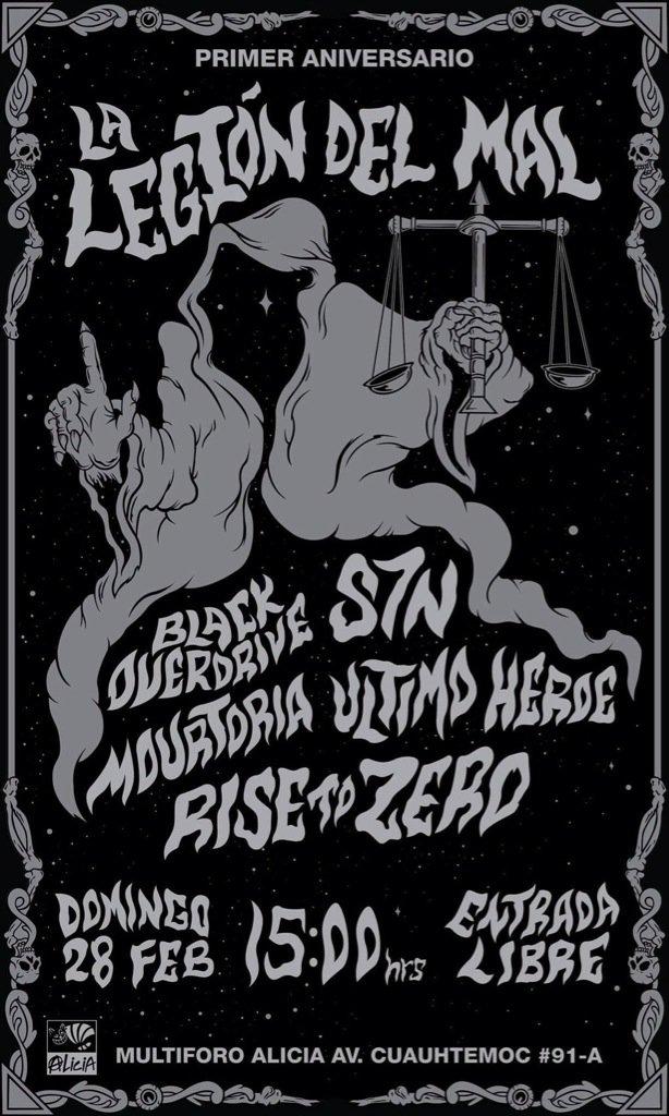 @HueleALegion en su 1 aniv. Presenta este 28 de Feb a @Black_Overdrive + @S7Nmusic en el @multiforoalicio https://t.co/nQnUyUKnxi