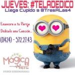 #Instagram Hoy es #Jueves de #TeLaDedico De 4 a 6 PM ... Llegó Cupido a @TresALas4 -… https://t.co/egPpIcMTZy https://t.co/zxwqhc2IHI