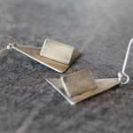 https://t.co/k24BH1KDFH Sterling silver #handmade contemporary abstract dangle earrings Thanks for visiting my store https://t.co/0alWe576Oe