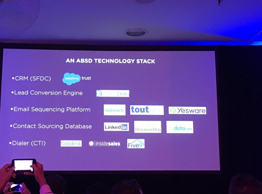 """""""We've used lots of CTIs in the past, today we are using @Talkdesk""""  VP sales Cloudera during #SaaStrAnnual https://t.co/tAO16yEbFK"""