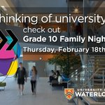 In grade 10? Friends or family in grade 10? G10 Family night is 1 week from today @UWaterloo https://t.co/ACXv8afdxi https://t.co/f9cVVt4zOi