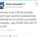 Esto fue lo que posteó @AlvaroAlvaradoC ayer. Esta noche te contamos los detalles. https://t.co/rglBpOltDq