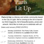 . @ParisLitUp is coming to the @albionbeatnik in #Oxford on 24/3 to launch magazine no.3 with poetry, prose & art. https://t.co/sGpKz2QlrM