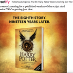 Even if you havent managed to get tickets to see #harrypotterandthecursedchild, youll be able to read the play! https://t.co/FmYlx7pNwU