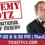 Follow & RT this to win 2 tickets to see @JeremyHotz on Feb.19th! https://t.co/Lc7a9qtOKQ #yyc #IntManofMisery https://t.co/koTgihhAe2