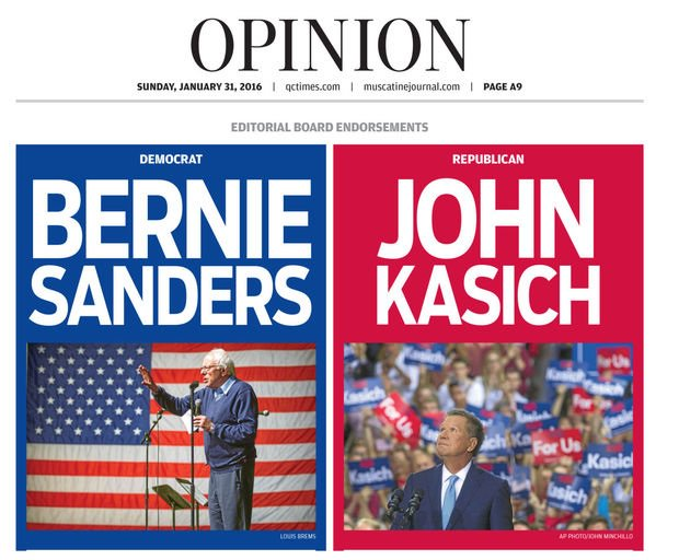 Quad-City Times editorial board's #iacaucus endorsements: https://t.co/7ve9Rh3l03 @JohnKasich @BernieSanders https://t.co/DaMeD43EVF