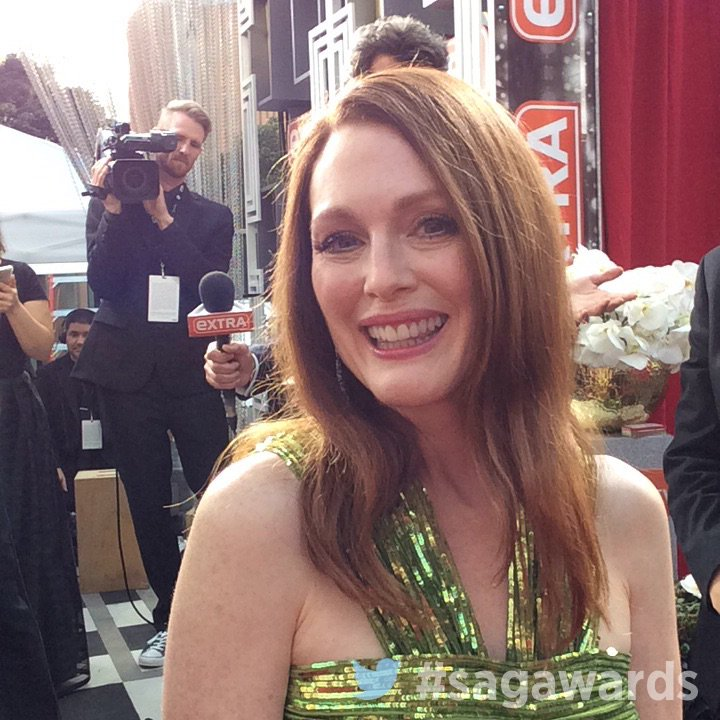 .@_juliannemoore on the red carpet before the #sagawards kicks off! https://t.co/OlWsmMwNsS