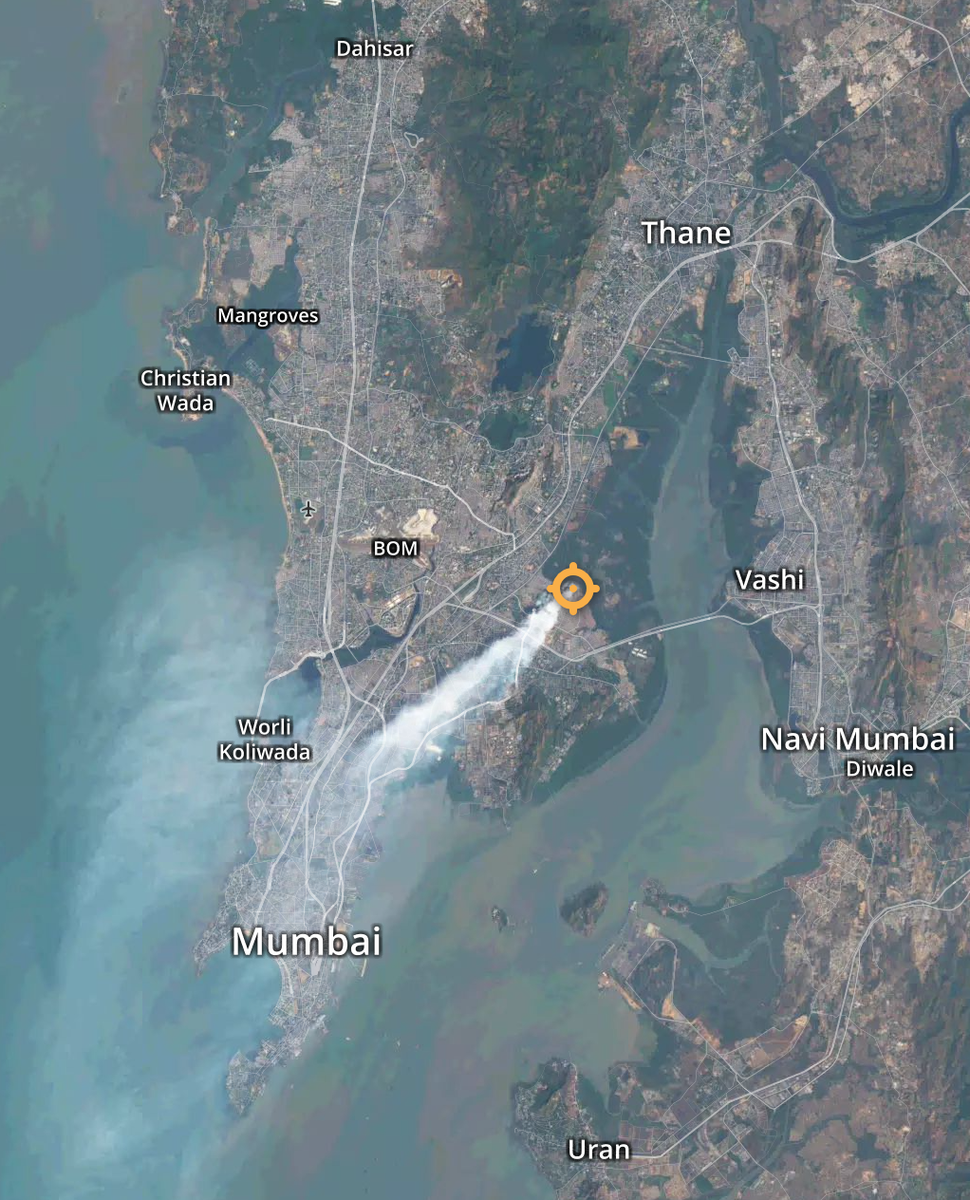 Carcinogenic fumes from the Mumbai landfill fire captured by the @NASA satellite 4 days ago https://t.co/9tvdixxfXe https://t.co/W59LI3WEOv