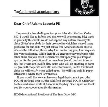 Why authorities quite on motorcycle club names fight in Denver? Iron Order MC law enforcement club & Mongols MC 1%er https://t.co/UjDTT6s5ts