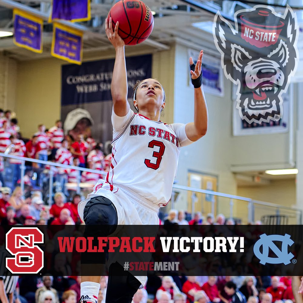 FINAL from #Raleigh: NC State 78, UNC 49. Largest win over Tar Heels since 1980! #GoPack #STATEment @ESPN_WomenHoop https://t.co/ur0oRSTG8X