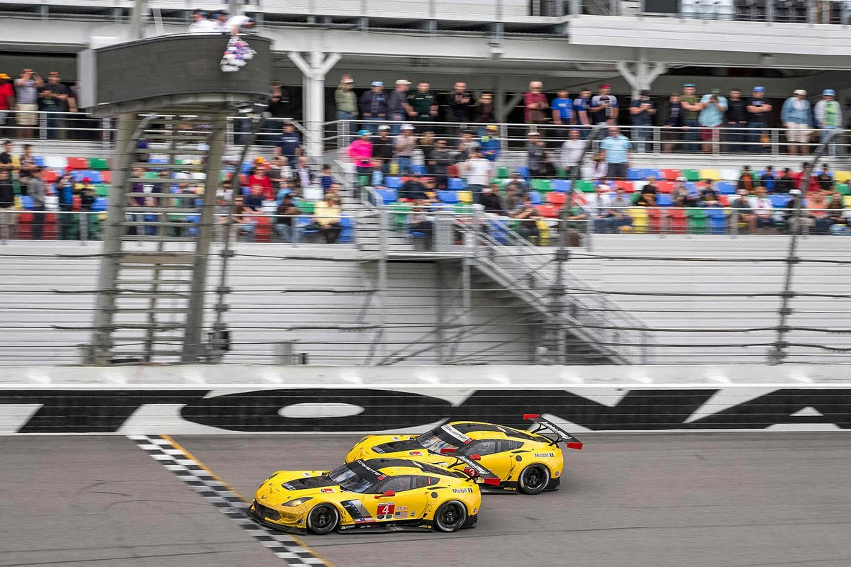 24 hours ✅ 722 laps ✅ 1st Place ✅ 2nd Place ✅ So proud of our #Corvette #C7R #4 & #3 teams at the #Rolex24! https://t.co/o3ZVxdCD24