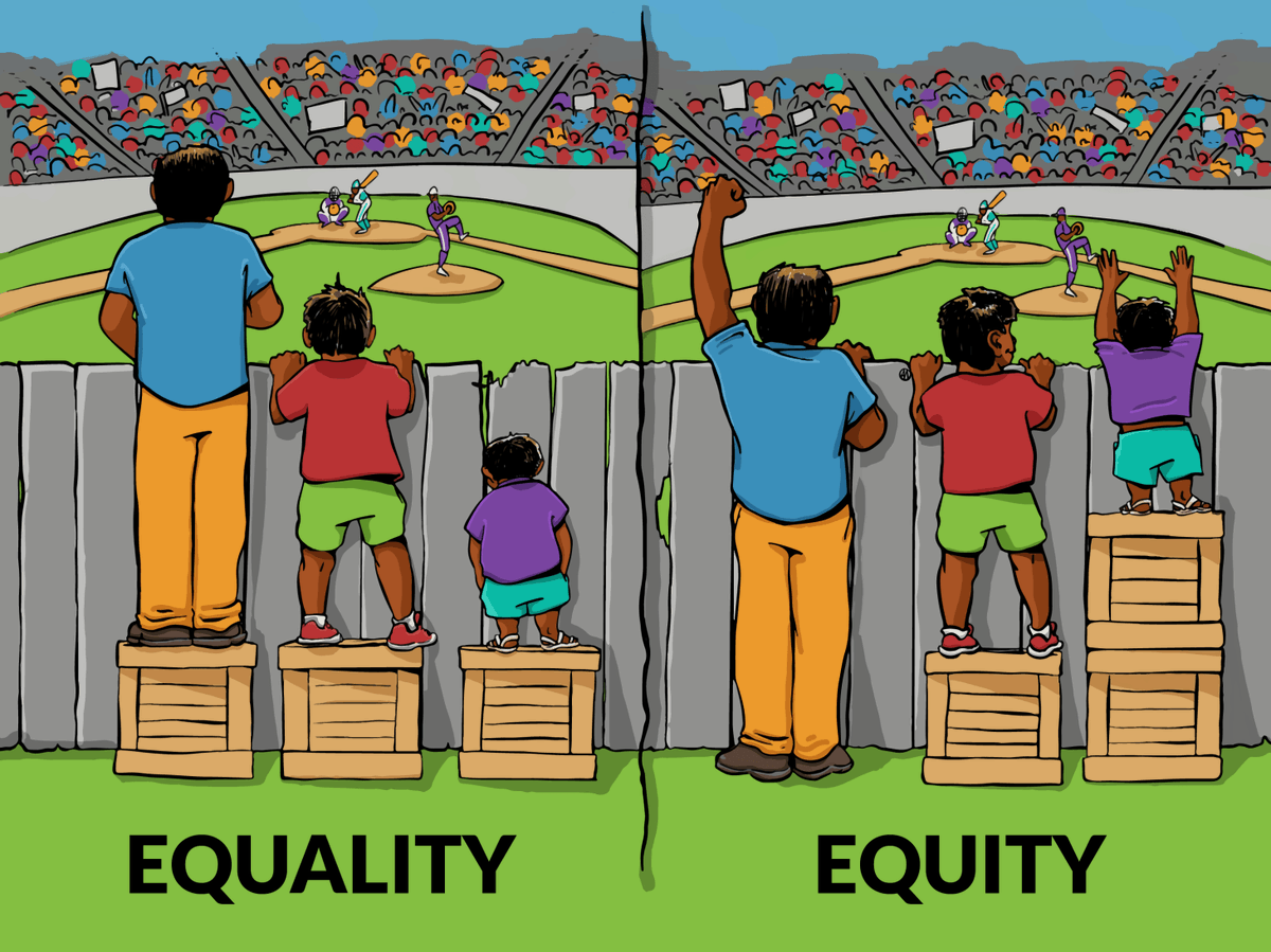 Igualdad vs Equidad https://t.co/V04zxmzVih