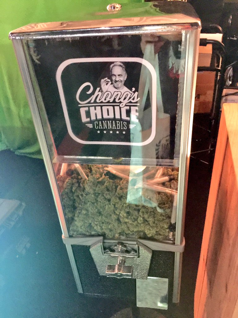 In @tommychong's gumball machine there's @chongschoice cannabis. Did you really expect gum? #CannabisCup https://t.co/eRYonXbDcn