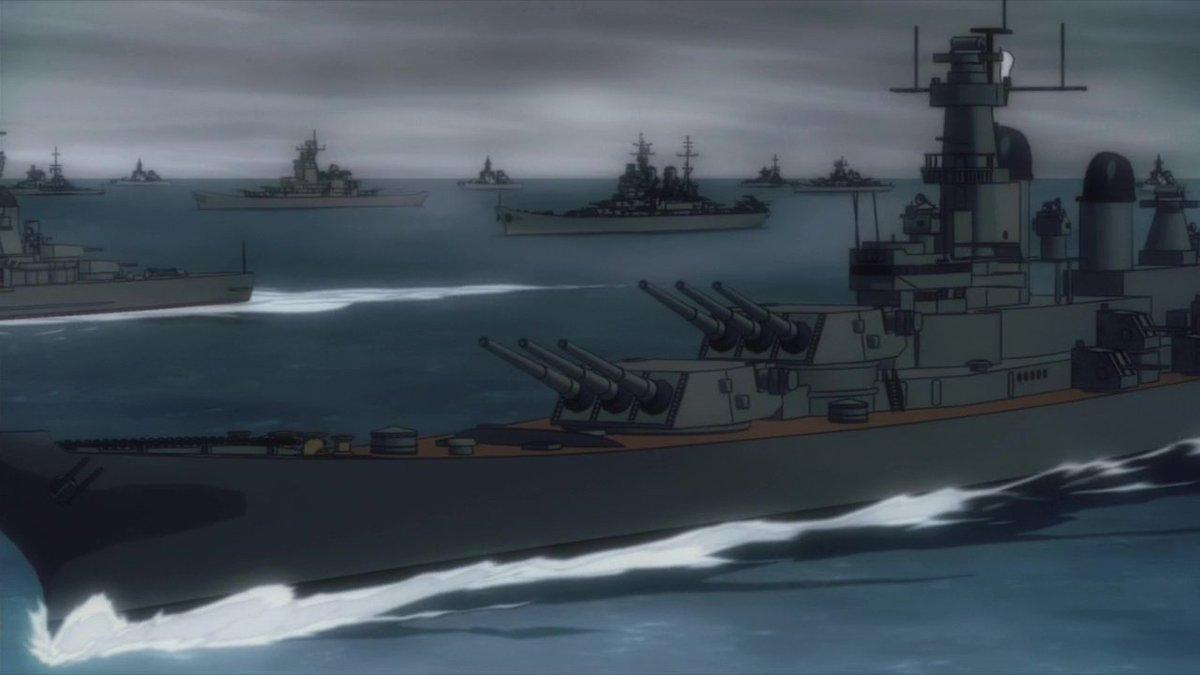 それで、モンタナ級戦艦のアニメ化は世界初ですかね? #シュヴァケン