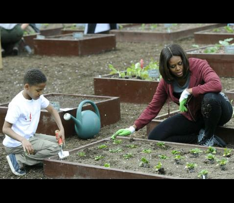 """Hay quien piensa q Michel Obama es """"cool"""" porque promueve como política d estado los cultivos orgánicos en la ciudad https://t.co/KLuSUIYY2h"""