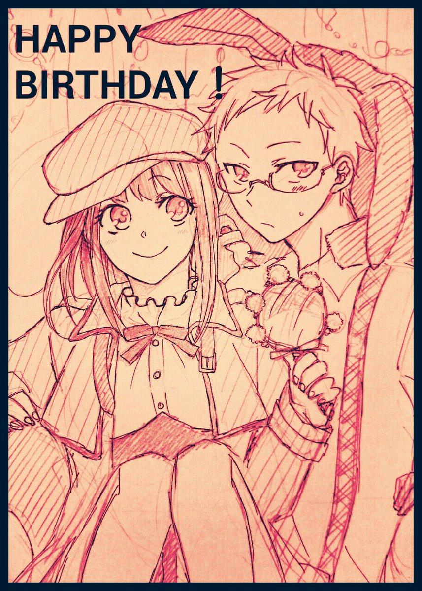 探偵チームKZ、上杉くんお誕生日おめでとう!難解ミステリー衣装で上アヤ落描き!(上アヤで表記あってる?上彩?)