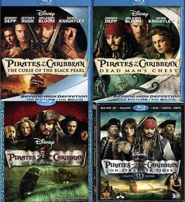 Win The Pirates Of The Caribbean Movie Dvd Box Set Follow