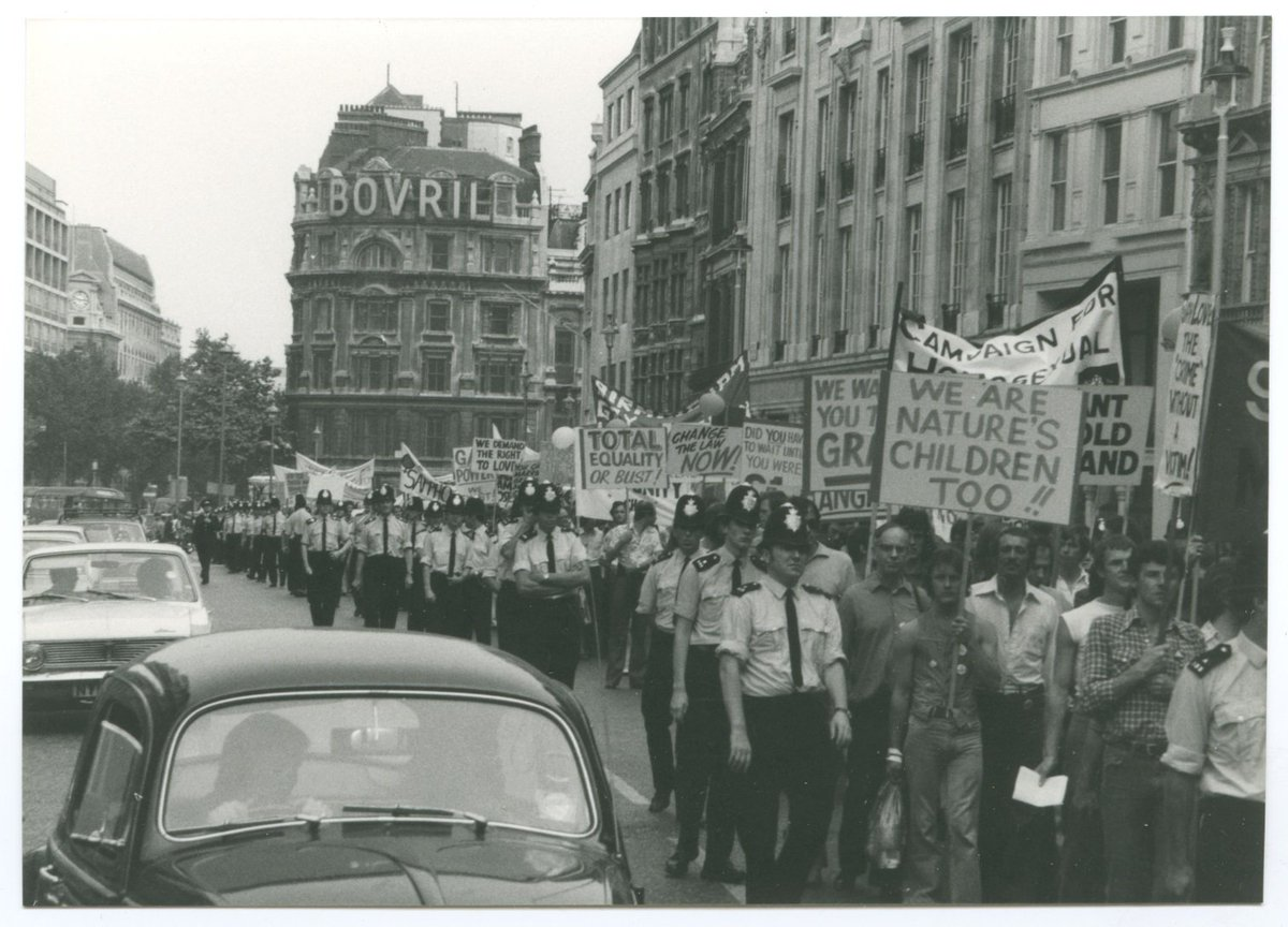 It's #LGBT history month @LGBTHM - here's our #LGBTactivism collection: https://t.co/z4vTJopJc4 Img: Gay Pride, 1972 https://t.co/gZA2lB2rl8