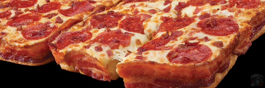 IT'S BAAAAACK!! Enjoy our wildly popular #Bacon Wrapped Crust DEEP!DEEP! Dish #Pizza w/3 ½ ft of #yum bacon today