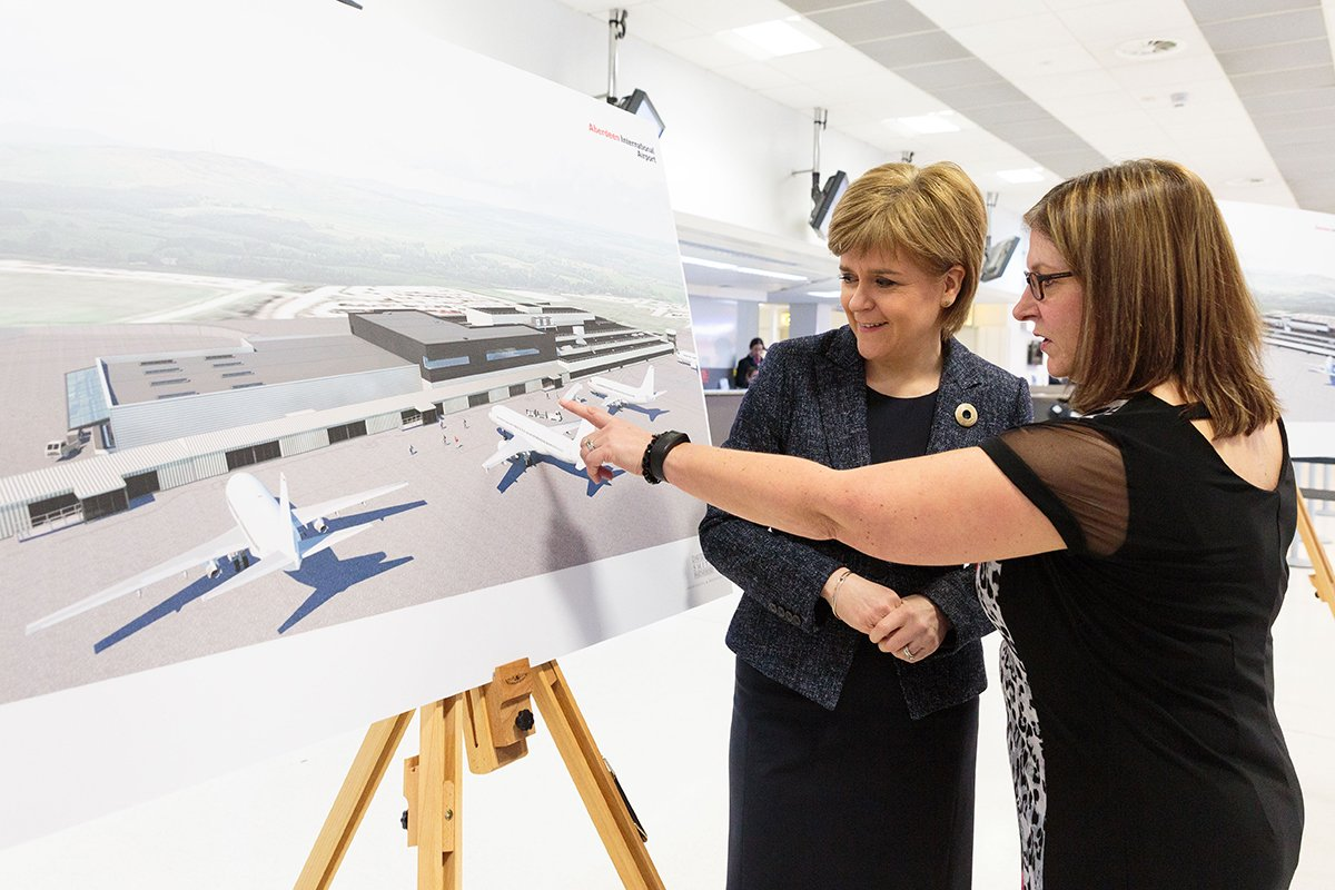 First Minister unveils ABZ airport's £20m transformation project, read the full story here: