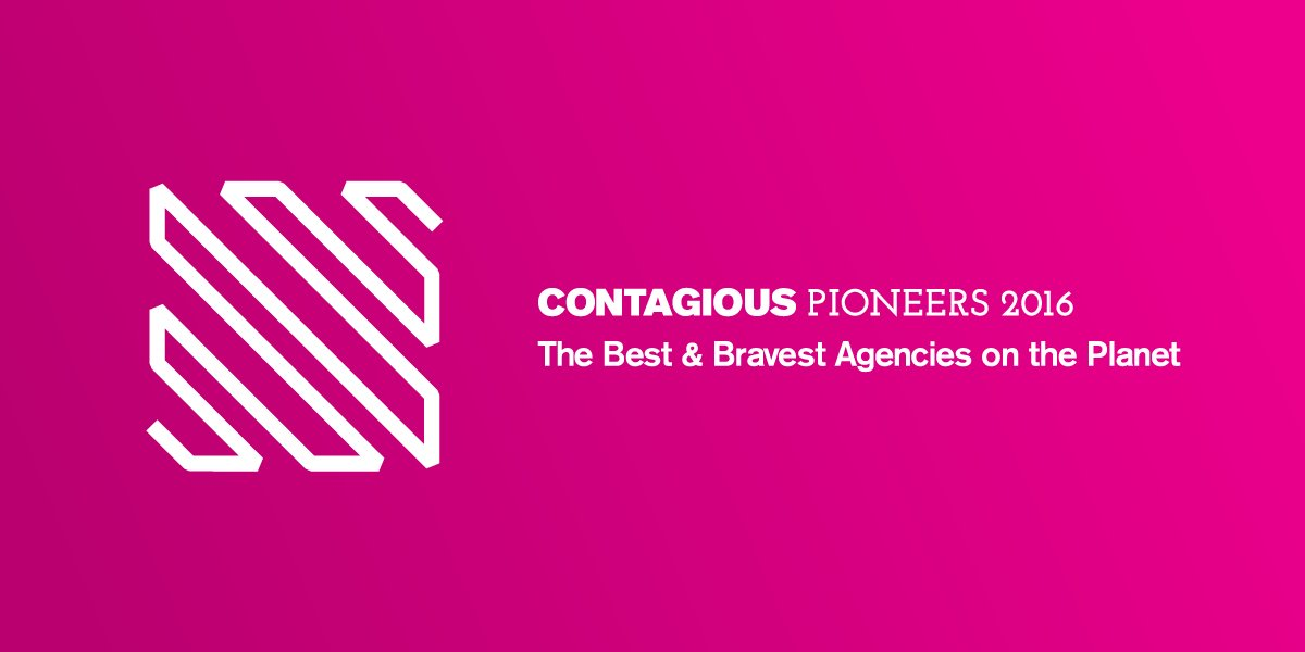 Announcing the Contagious Pioneers 2016, the best and bravest agencies on the planet: https://t.co/QOGRmWbpFq https://t.co/xXqKiWn8EL