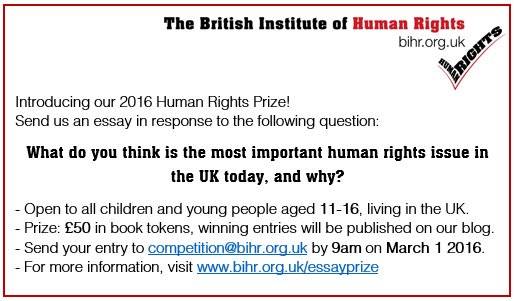 Today we launch a Human Rights Prize for young people aged 11-16! Click through for details https://t.co/w7f74wLpFj https://t.co/pSnN6PbMZv