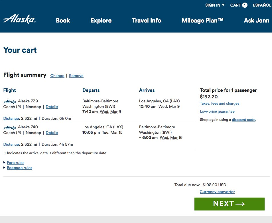 RT @airfarewatchdog: Baltimore to LAX $193 round-trip, nonstop, for winter/spring travel