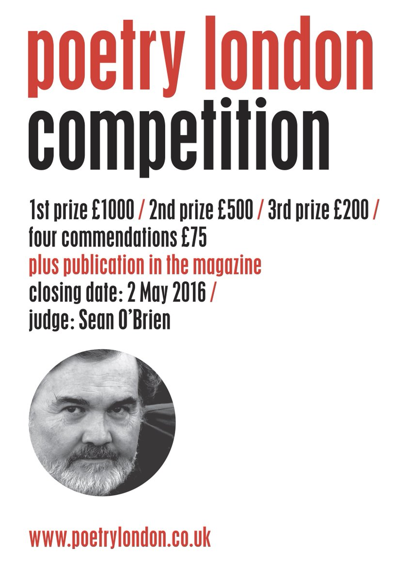 Sean O'Brien will be judging Poetry London's 2016 competition, which is now open for entries https://t.co/q8dq1rsdOj https://t.co/6pYDlRIwgV
