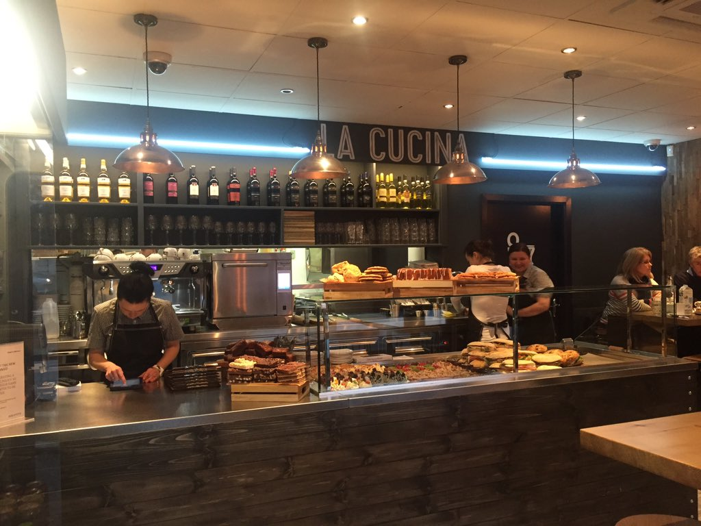 And we're open.... #lacucina https://t.co/11NWS81Ma7