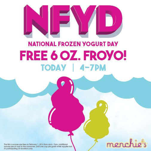 It's finally here!  Join us TODAY from 4 - 7pm for FREE froyo.  *US Only https://t.co/xm1J0iS7E3