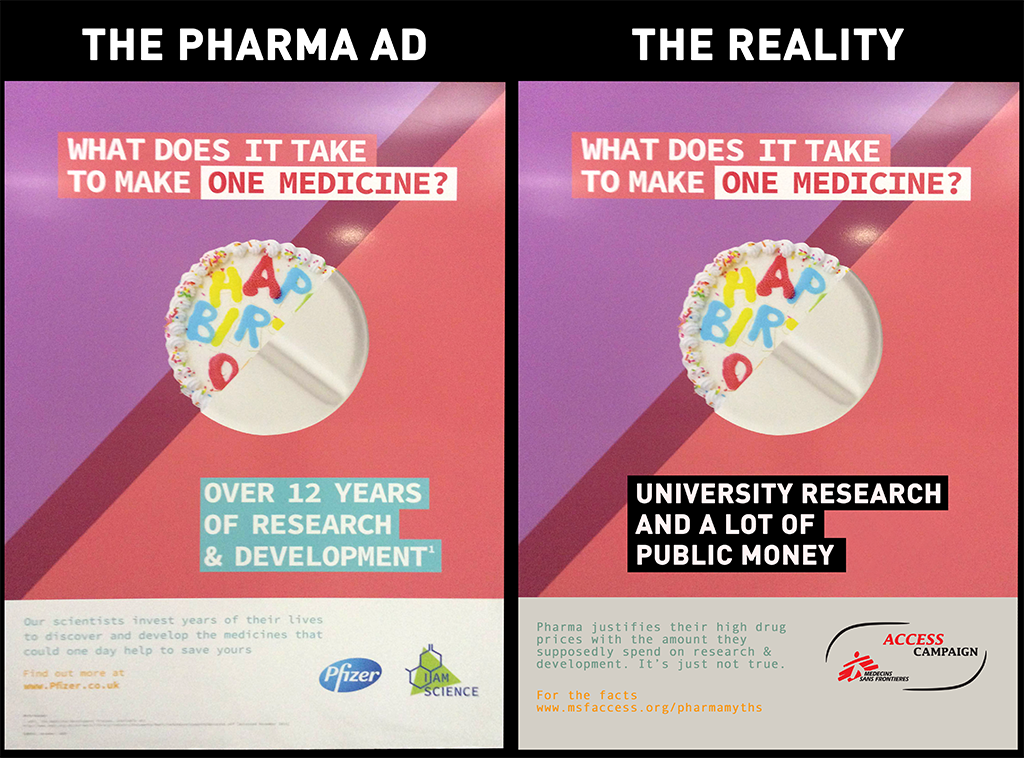 We saw the new @Pfizer ads in London tube and thought we'd better set the record straight #pharmamyths https://t.co/181L5uOBpL