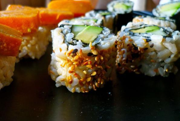 Avocado. Sushi. Sweet Potato. Nigiri. Let's do this