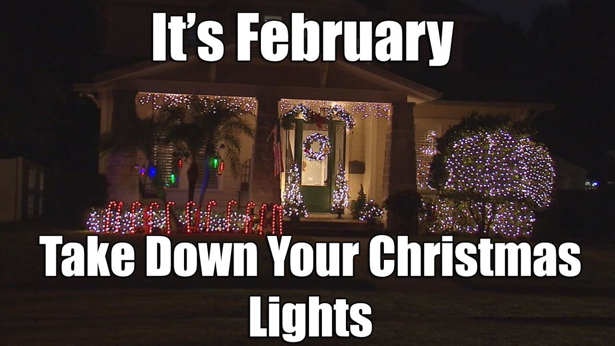 new year same debate when do you take down your christmas lights https - When To Take Down Christmas Lights