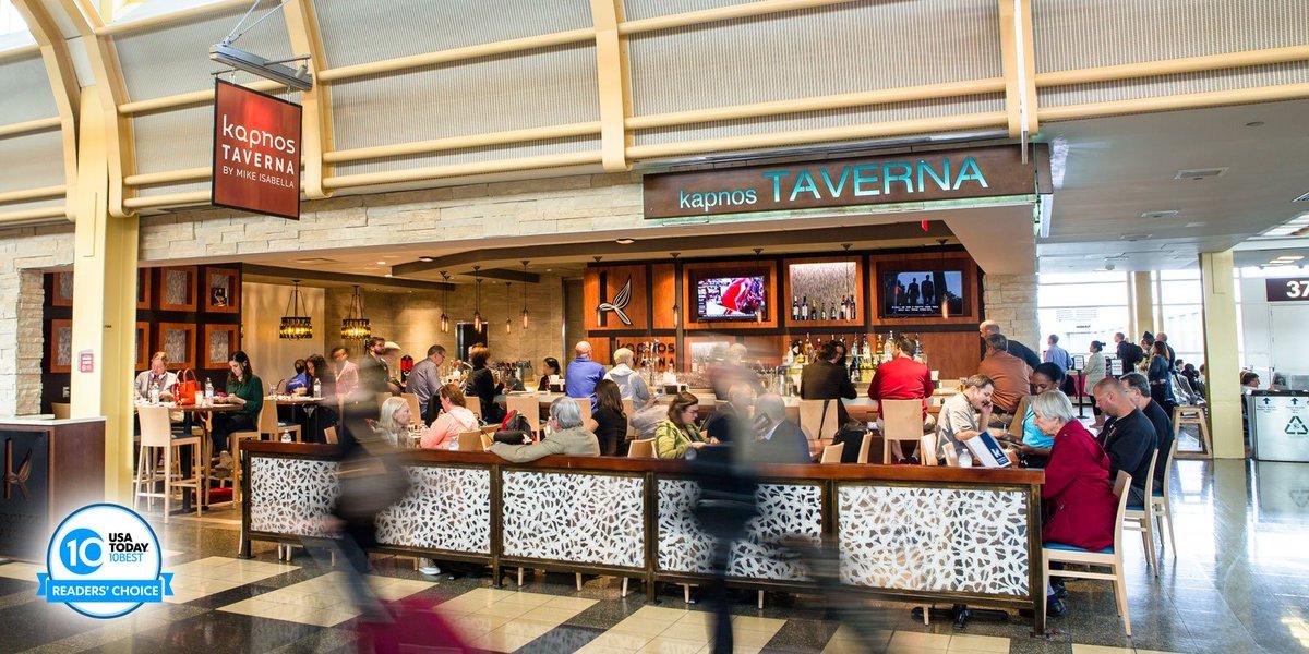 Vote for @KapnosTaverna - Best Airport Bar/Restaurant Wait Staff @USATODAY's 10Best here: