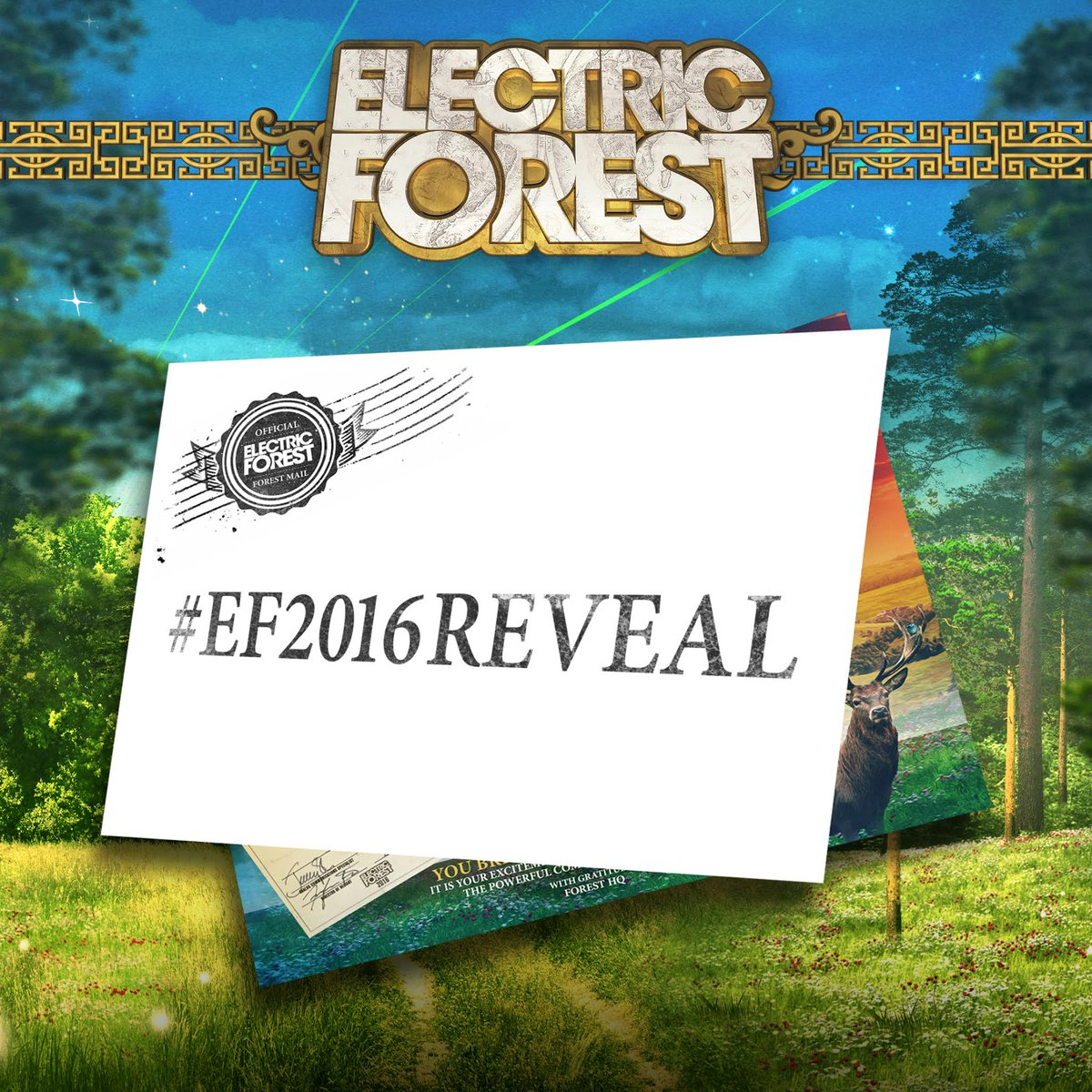 Tomorrow, the Forest Family will reveal the initial lineup for Electric Forest 2016. https://t.co/xArt17TzSi