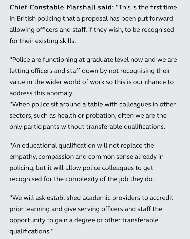 Consultation opens today for officers & staff to get recognised qualifications #PEQF https://t.co/UWqiZax7dR https://t.co/13esC2I5Nj