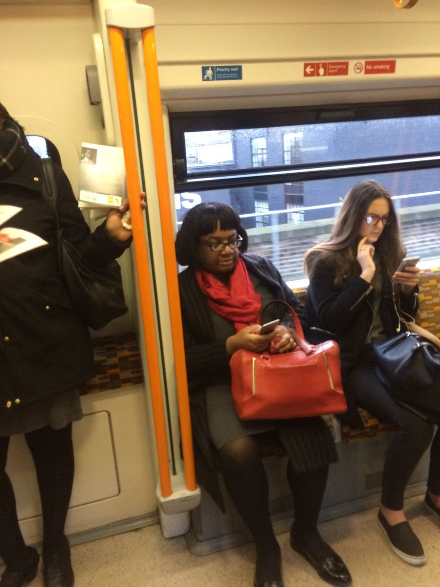 Diane Abbott, running late today, checking https://t.co/2Wd4qfEZeT to see if anyone has caught her in priority seat https://t.co/rirvNmpRKh
