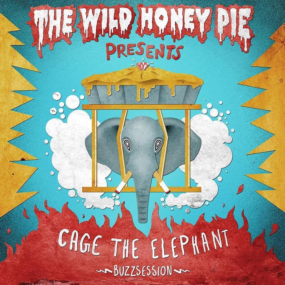The Wild Honey Pie (@thewildhoneypie): Catch our @cagetheelephant #Buzzsession over on @youtube! Cover art by @timmylines. https://t.co/vb9pbzmeY9 https://t.co/TsIsMNHPjV