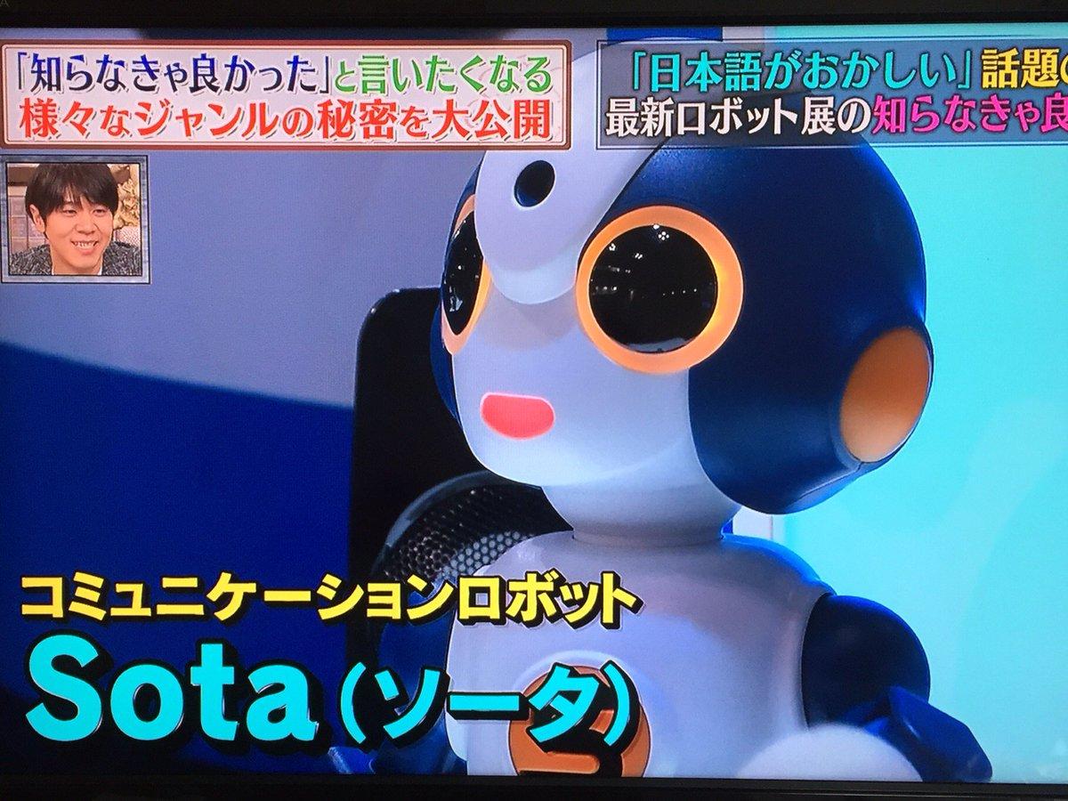 コミュニケーションロボットのSota(ソータ)くん https://t.co/3GthZ2eTub