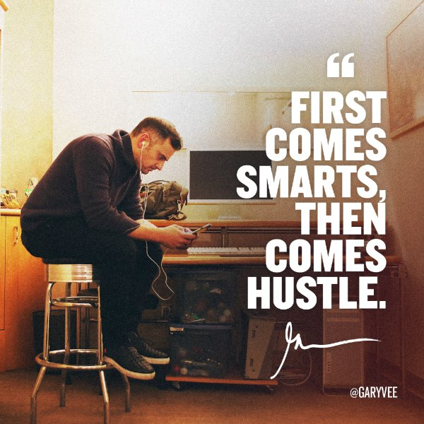 """First Comes Smart, Then Comes Hustle."" @garyvee - I agree! #AskGaryVee - https://t.co/iymLeKKGpU #SmartHustle https://t.co/ZlGV5Y58Lq"